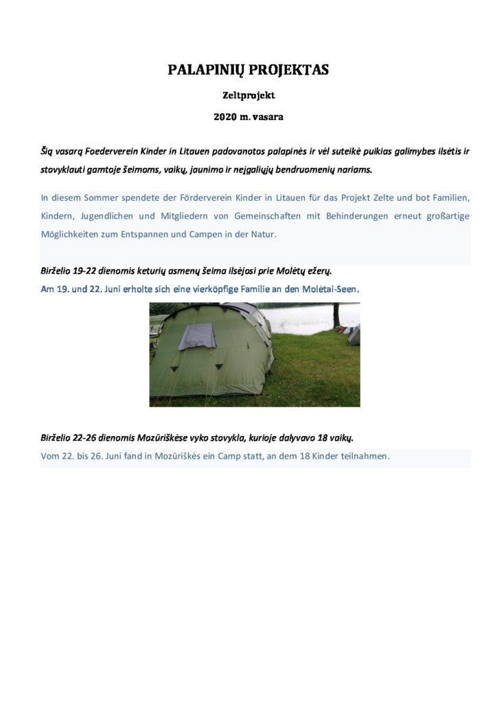 Bericht Zeltprojekt 2020 - PDF